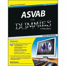 ASVAB for Dummies by Consumer Dummies Staff and Rod Powers (2013) FREE SHIPPING
