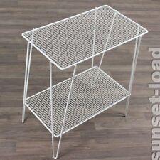 alter Beistell Tisch Draht Gitter Schlaufen Füße 50er Jahre vintage Mesh Table