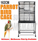 New Large Stand-Alone Parrot Aviary Budgie Canary Bird Rat Cage on Wheels 162CM