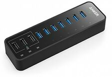 Anker® 60W 7-Port USB 3.0 Data Hub With 3 PowerIQ Charging Ports For IPhone,