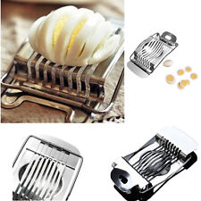 1X Stainless Steel Boiled Egg Slicer Cutter Fruit Vegetable Kitchen PO