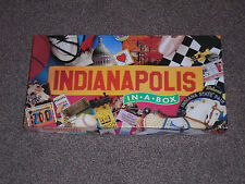 """INDIANAPOLIS IN A BOX GAME : REAL ESTATE TRADING """"MONOPOLY"""" IN VGC (FREE UK P&P)"""