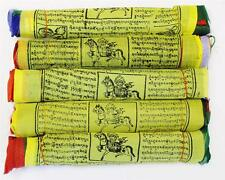 F647 Very Artistic Tibetan Prayer Flag Large 5 Rolls Pkt Hand Crafted in Nepal