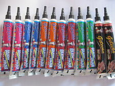 12 Colors of HENNA TUBES MEHANDI BODY PAINT TEMPORARY TATOO KIT INK DARK OUTPUT