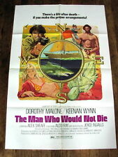 MAN WHO WOULD NOT DIE Movie Poster ALDO RAY SHARK SCUBA DIVING DOROTHY MALONE