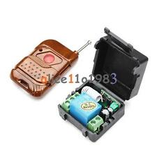 DC 12v 1CH Wireless RF Remote Control Switch Transmitter Receiver 10A Relay