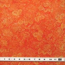 BALI BATIK - ORANGE ORGANIC - #TDO701K - Patchwork Fabric by the ½ metre
