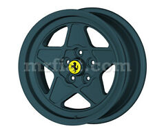 "Ferrari 208 308 GT4 GTB GTS Gunpowder 5 Spoke Ferrari Style 16"" Wheel Set 4 New"