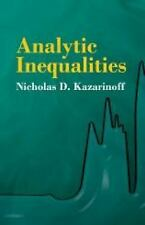 Analytic Inequalities (Dover Books on Mathematics) Kazarinoff, Nicholas D. Pape