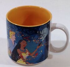 POCAHONTAS JOHN SMITH MEEKO Disney Store Ceramic 12 oz Coffee Mug Cup RETIRED