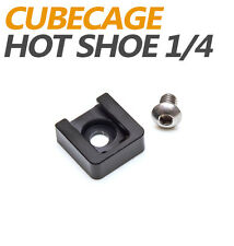 "Motionnine Universal Cold Shoe Mount with 1/4"" Thread Hot Shoe"