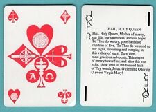 Single Swap Playing Card JOKER K64 HAIL HOLY QUEEN MOTHER OF MERCY WIDE VINTAGE