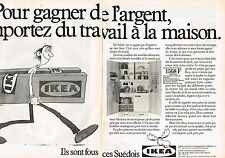 PUBLICITE ADVERTISING 064  1982  IKEA   meubles SUEDOIS ( 2 pages)