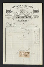 """NANTES (44) PAIN & PATISSERIE """"BOULANGERIE de PARIS / J. CHAUVELON"""" en 1906"""