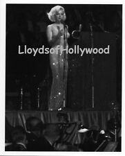 MARILYN MONROE HAPPY BIRTHDAY JFK PARTY  ON STAGE CANDID PHOTOGRAPH 1962