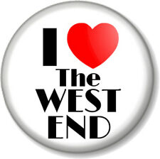 I Love / Heart THE WEST END 25mm Pin Button Badge Theatre Musicals Shows London
