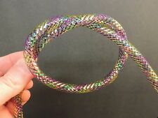 "1 Yard 5/16"" MULTI COLORED # 4, Mylar / Mesh Tubing Tube for Fly Tying, Minnow"