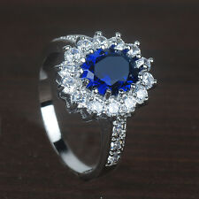 Fashion Jewelry 925 sterling silver Sapphire Gemstone  ring 6 7 8 9 10 RY077