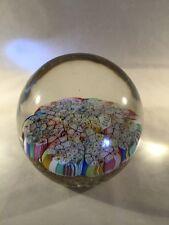 Beautiful Vintage Murano Italy Millefiori Art Glass Paperweight
