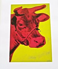 Andy Warhol Poster of Cow Yellow and Pink  11x14 Unsigned