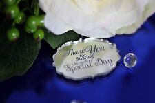 Personalised Mirror acrylic Vintage Wedding guest favour/ table decoration