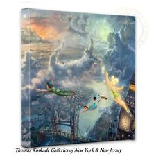 "TINKER BELL & PETER PAN Wrap - Thomas Kinkade 14"" x 14"" Wrapped Canvas"