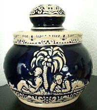 TABAKTOPF TABAKDOSE antik Keramik Marzi & Remy Kobaltblau Westerwald Keramik alt