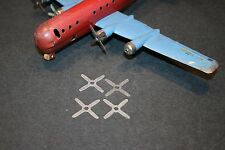 NEW! Four (4ea) Wyandotte Pressed Steel Toy Airplane Propellers Stratocruiser