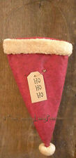 Primitive Country Christmas Hanging Santa Hat ~ Ho Ho Ho