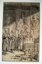ILLUSTRATIONS HOSEKIAH SHOWS HIS TREASURE INK/WASH CONRAD METZ (ATTRIB) C1795