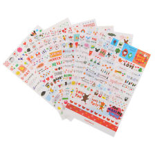 6Pcs Transparent Calendar Scrapbook Diary Book Decor Paper Planner Stickers