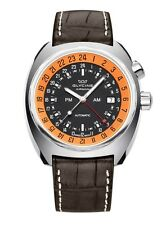 Glycine Men's 3903.196.LBN7 Airman SST 12 GMT Automatic 43mm Pumpkin Dial Watch