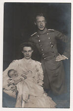 Vintage Postcard Wilhelm,German Crown Prince & Crown Princess Cecilie & Family