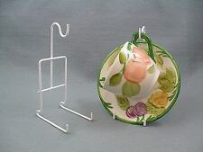 White Finish Cup & Saucer Display Stand