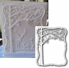 ORCHARD TREE die MEMORY BOX DIES - 98300 leafy trees,leaves,frame,All Occasion