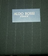 Italian Wool suit fabric   4.5 Yards  Black with white pin srtipes
