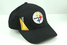 Pittsburgh STEELERS Black Adjustable Structured Hat Cap NFL OSFA