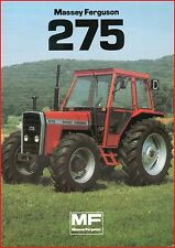 French Original  Prospect  Tracteur Tractor Massey Ferguson MF 275_ 2 pages