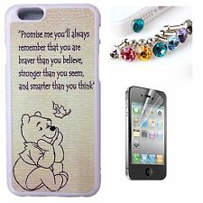 Cartoon Winnie The Pooh Saying Quote Surivor Back Case Cover Gift For iPhone 6s