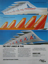 4/89 PUB ALLIED SIGNAL BENDIX KING TCAS PIEDMONT SOUTHWEST AMERICAN AIRLINES AD