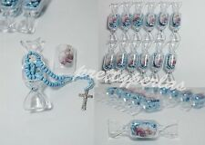 18pc Baptism Candy Party Favors Blue Rosary Recuerdos de Bautizo Roario Bautismo