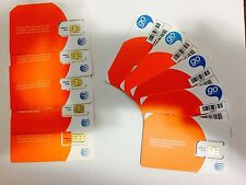LOT OF 10 NEW AT&T Sim Card Prepaid Go  Standard Size 6006A   ( 10 UNITS)