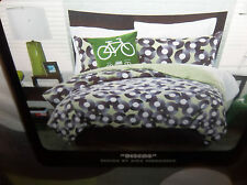 Twin XL Duvet Cover Records Discos Green