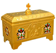 "Catholic church holy bread box high quality polished brass 6"" Communion handmade"