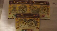 Halloween DIY Decoration Paint Your Own 3 Packs Of 2 Different Fall Deco NEW h25