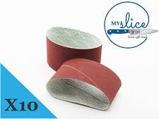 10X Nirey Medium Replacement Abrasive Belts - KE-3000 or KE-280 Models.