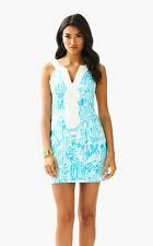 NWT Lilly Pulitzer Resort White La Via Loca Valli Shift Dress, Sz 14, $208