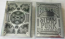 Carte da gioco Bicycle Steampunk colore argento silver Poker SPED GRATIS 1025591