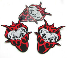 Hot 1pcs Embroidered Cloth Iron On Patch Sew Motif Applique  Skull E014