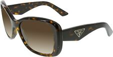 Prada Women's Gradient  PR32PS-2AU6S1-57 Brown Square Sunglasses